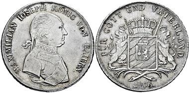 2931: Königreich Bayern. Maximilian I. Joseph. Konventionstaler 1806. Taxe: 4.000.
