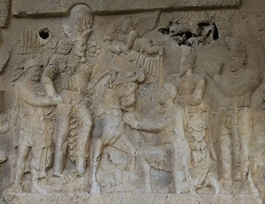 Shapur I surrounded by Roman emperors. Photo: KW.