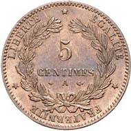 The Sou or 5 Centimes Coin.