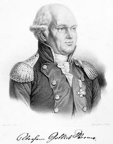 Lithografie von Abraham Gottlob Werner nach einer Zeichnung von O. Ufer 1816 aus einer Denkschrift von 1848 entnommen [3].