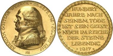 Sächsische Werner-Medaille in Gold, © Fritz Rudolf Künker [4].