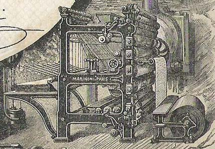 Marinoni rotation press.