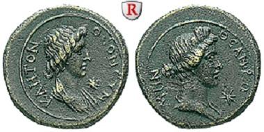 Rom. Mysien. Pergamon, autonome Prägung. Bronze 41-68. Vorzüglich. 220 EUR.
