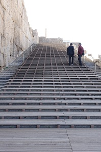 The modern staircase in Persepolis. Photo: KW.