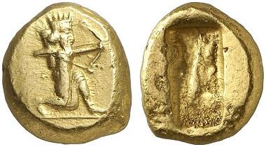 Darius I., 522-486. Dareike, ca. 500-485. Aus Auktion Gorny & Mosch 219 (2014), 292.