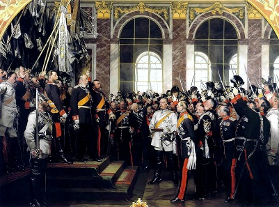William I is crowned German Emperor in 1871. Painting of Anton von Werner, 1885.