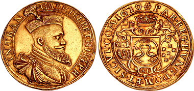 Lot 1400: Impressive Transylvanian Gold 10 Dukát. Estimate: 50,000 USD. Realized: 85,000 USD.