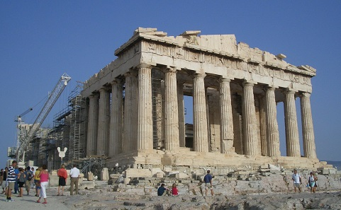 The Parthenon on Athens's acropolis was not only built with public money - it served also as treasure vault where the community's money was stored. Photo: Wladyslaw Sojka / CC BY-SA 3.0