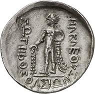 Nr. 9: Kelten. Imitation Thasos. Klasse III. Tetradrachme, nach 148, unbest. Mzst. Aus der Sammlung eines Münchner Arztes. Vorzüglich. Taxe: 750,- Euro.