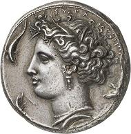 Nr. 98: Syrakus (Sizilien). Dekadrachme, ca. 400-390. Vorzüglich. Aus Sammlungen Comte René Philipon (1870-1936) und Aynard, Auktion 1913, Nr. 22. Taxe: 50.000,- Euro.