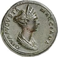 Nr. 497: Diva Ulpia Marciana, + 112. Sesterz, 112-117, Rom. Glendining