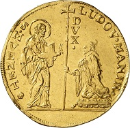 Nr. 3622: Venedig. Ludovico Manin, 1789-1797. Multiplo da 10 zecchini o. J. Sehr selten. Kaum sichtbare Henkelspur. Vorzüglich. Taxe: 12.000,- Euro.