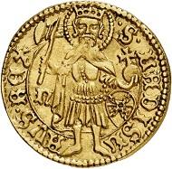 Nr. 3821: Ungarn. Johann Hunyadi, 1446-1462. Goldgulden o. J. Äußerst selten. Vorzüglich bis Prägefrisch. Taxe: 6.500,- Euro.