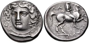 Lot 128: Thessaly, Larissa. Drachm, circa 380-365 BC. Good VF. Estimate: 200 USD.