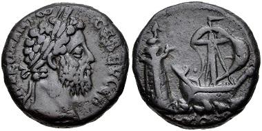 Lot 367: Egypt, Alexandria. Commodus. BI Tetradrachm, AD 177-192. VF. Estimate: 300 USD.