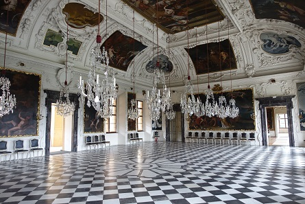 The famous Planetary Room of Eggenberg Palace. Photo: KW.