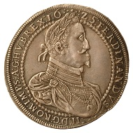 Ferdinand II. Threefold taler 1625, Graz. From the Coin Cabinet of the Joanneum. Inv.-Nr. MK 2954. Exhibition catalogue 87. Photo: © UMJ.)