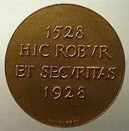 Medaille auf Niklaus Manuel, 1928. Bernisches Historisches Museum, Inv. Nr. MS 2677. © Bernisches Historisches Museum, Bern.