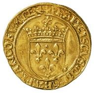 Frankreich. Franz I., 1515-1547. Écu d'or au soleil, 1515-1540, Lyon. Bernisches Historisches Museum, Inv. Nr. 99.23. © Bernisches Historisches Museum, Bern.
