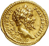 Lot 679: Septimius Severus, 193-211, with his family. Aureus, 201. Very rare. Almost extremely fine. Estimate: 30,000,- euros.