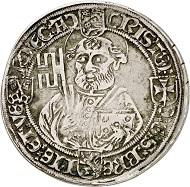 Nr. 3126: Braunschweig-Wolfenbüttel. Christoph, Sohn Heinrichs des Älteren. Prägung für das Erzstift Bremen, 1511-1558. Taler (Gulden zu 36 Grote) o. J., Bremen. Äußerst selten. Sehr schön. Taxe: 25.000,- Euro.
