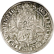 Lot 3126: Brunswick-Wolfenbüttel. Christoph. Coinage for the Prince-Archbishopric of Bremen, 1511-1558. Taler (gulden of 36 grote) no date, Bremen. Extremely rare. Very fine. Estimate: 25,000,- euros.