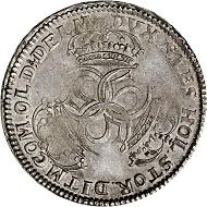 Nr. 4731: Schleswig-Holstein. Christian IV., 1670-1699. Speciestaler 1683, Glückstadt. Aus Slg. H. Hielmstierne (1714-1780). Vorzüglich bis Stempelglanz. Taxe: 15.000,- Euro.