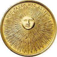 Nr. 5172: Schweden. Christina, 1632-1654. Goldmedaille zu 40 Dukaten o. J. (um 1685), unsigniert (von Giovanni Battista Guglielmada). Äußerst selten. Vorzüglich. Taxe: 50.000,- Euro.