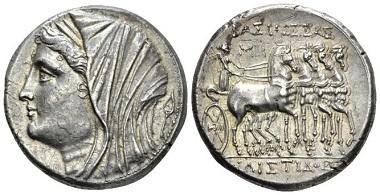 Lot 87: Sicily, Syracuse. 16 Litrae, circa 269-215, AR. Ex J. Elsen sale 59, 1999. Extremely Fine. Starting Bid: 1.100 GBP.