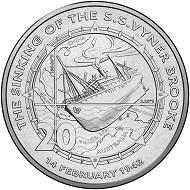 Australia / 20c / CuNi / 11.30 g / 28.52 mm / Mintage: 20,000.