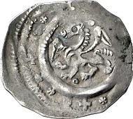 Österreich. Pfennig, ca. 1190-1210, Enns. Geflügelter Panther. Rv. Zwei Drachen. Aus Auktion Künker 130 (2007), 2595.
