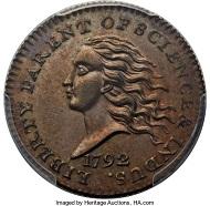 1792 Judd-10 Copper Disme.