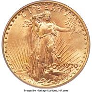 1920-S Saint-Gaudens Double Eagle.