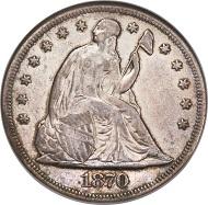 1870-S Seated Dollar, XF40 NGC.