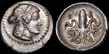 Lot 20: Sicily. Syracuse. AR litra, circa 460-450 B.C., struck under the Second Democracy. From Edward J. Waddell. Extremely Fine. Estimate: 2,500 USD.