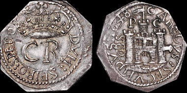 Lot 162: Celtic Britain. Charles I. 1625-1649. Posthumous AR shilling in the name of Charles II. June 1648-March 1648/9. Extremely Fine. Estimate: 13,500 USD.