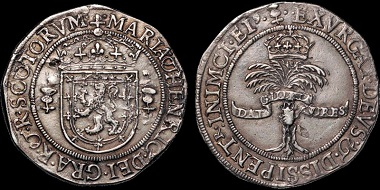 Lot 402: Scotland. Mary and Henry. (Mary, Fourth Period) (1565-67). AR 2/3rds ryal. Ex LaRiviere. Spink. 2006. Near Extremely Fine. Estimate: 12,500 USD.