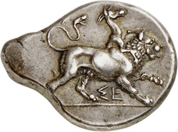 Lot 158: Sikyon (Peloponnesos). Stater, 431-400. From Lockett Coll., SNG 2323, and Pozzi Coll. (1920), 1799. Rare. Very fine to extremely fine. Estimate: 1,500,- euros.