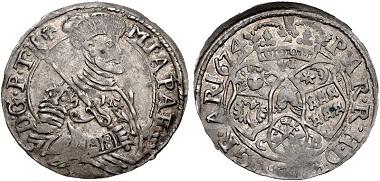 Transylvania, Principality. Mihály Apafi I., 1662-1690. Sechser-6 Denar. Good VF. Estimate: 500 USD.