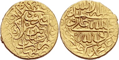 Safavids. Abbas, 1578-1629. Mithqal, Isfahan. From Peus sale 400 (2010), No. 779.