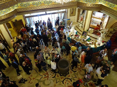 In the lobby, hotel guests waiting for Newroz to begin. Photo: KW.