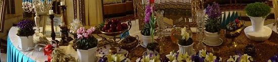 The table set up on Newroz. Photo: KW.
