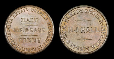 Lot 518: New Zealand. Henry Hall / E F Dease Halfpenny Mule. UNC. Estimate: 1,000 NZD.