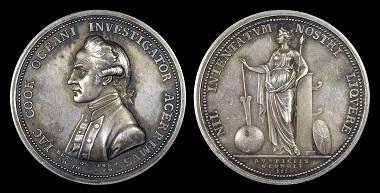 Lot 603: Great Britain. James Cook Medal, 1779. AU. Estimate: 2,700 NZD.