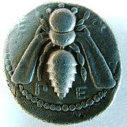 Ionien. Ephesos. Tridrachme 394/387 v. Chr. SNG v. Aulock 7821; Kinns in Coin Hoards IX, S. 101, 3 a (dies Exemplar). Ex