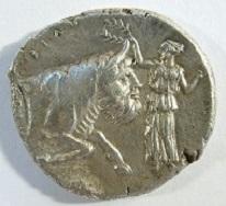 Sizilien. Gela. Tetradrachme um 420 v. Chr. Jenkins, Gela 371; SNG Lloyd 970. Ex Auktion Parsy, März 2014, 6.