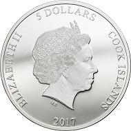 Cook Islands / 5 Dollars / Silver .999 / 1 oz / 38.61 mm / Mintage: 5000.
