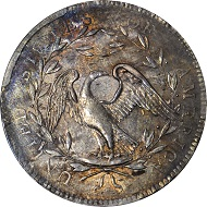 Flowing Hair Dollar. 1794. AU-58+.