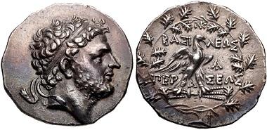 Lot 20: Kings of Macedon. Perseus. Tetradrachm, 179-168 BC. Near EF. Estimate: 1,000 USD.