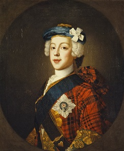 Image of Bonnie Prince Charles in Scottish gard, painted by the Scottish Painter William Mosman around 1750. Scottish National Gallery.